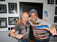 Chris Brown with Simon Britton