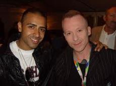 Jay Sean with Simon Britton