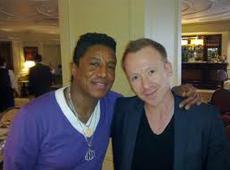 Jermaine Jackson with Simon Britton