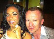 Michelle Williams with Simon Britton