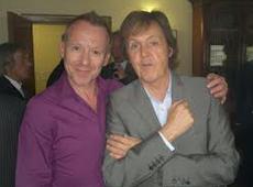 Sir Paul McCartney with Simon Britton